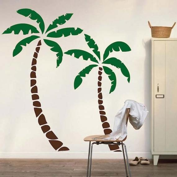 palm tree decals palm tree wall sticker murals nursery. Black Bedroom Furniture Sets. Home Design Ideas