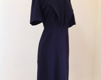 Classic JIL SANDER Midnight Blue Minimalist Dress
