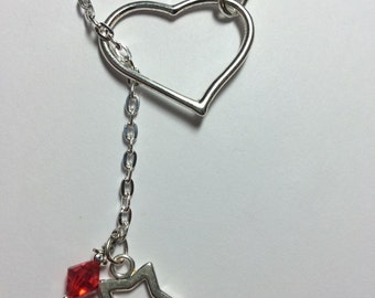 Sterling Silver and and Swarovski Heart Necklace.