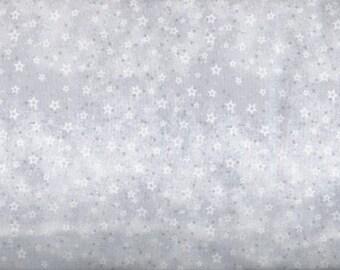 Winter Frost Star fabric - white gray - Henry Glass - LAST YARD