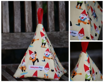 Fabric Doorstop - Yellow Garden Gnome