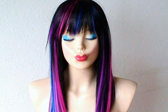 Perruque De Galaxie De D 233 Grad 233 Perruque Bleu D 233 Grad 233 Violet