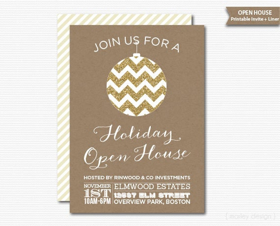 company open house invitation printable christmas invitation. Black Bedroom Furniture Sets. Home Design Ideas