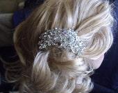PEACOCK STYLE Crystal bridal comb headpiece elegant wedding for bridal event