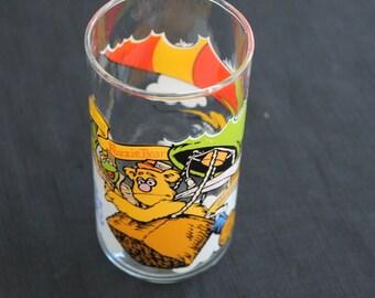 Vintage MacDonalds Muppets Kermit Frog Fozzy Bear Glass