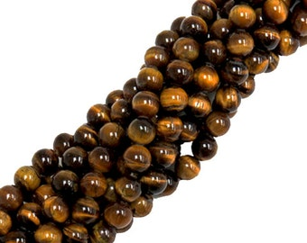 Round 10mm Brown Tiger Eye