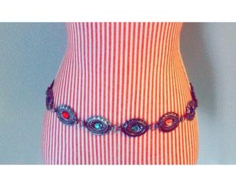 Vintage Multicolor Metal Belt