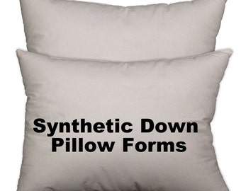 Pillow Forms, Pillow insert, synthetic down alternative all sizes available 1 - 5 units