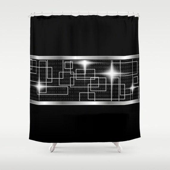 noir douche rideau art rideau abstrait rideau mosa que argent. Black Bedroom Furniture Sets. Home Design Ideas