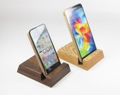 iphone stand, iphone dock, wood Android stand, cell phone stand.