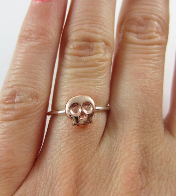 Skull Ring Sterling Silver and Copper