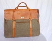 RESERVED!!! Vintage HARTMAN Twill Large Messenger Bag Briefcase NO Shoulder Strap Distressed