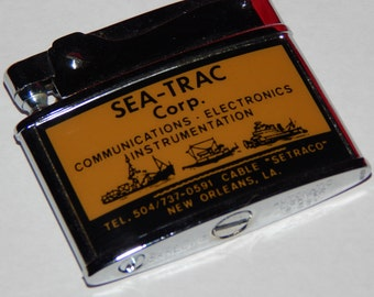 Vintage Barlow Lighter - New Orleans SEA-TRAC Corp. - Works!