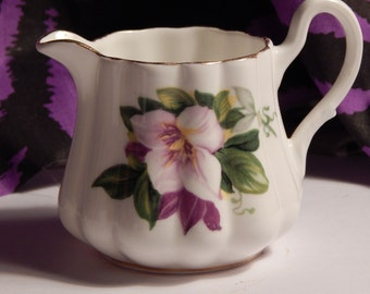 Royal Stuart - English Bone China Pansy Creamer - Delicate Floral Creamer