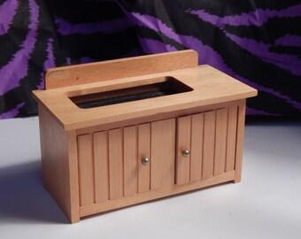 Dollhouse Dry Sink - Doll House Wood Sink Cabinet  NIB - 1/12th Scale