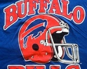 Buffalo Bills New With Tags vintage tshirt Large NFL football Trench