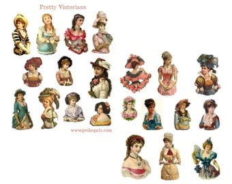 Pretty Victorians Digital Collage Sheet