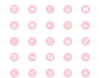 SM3 :. Social Media Icon Buttons / For blog or website