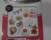 Japan Qlia kawaii Photo Soup 70pcs stickers flake/birthday