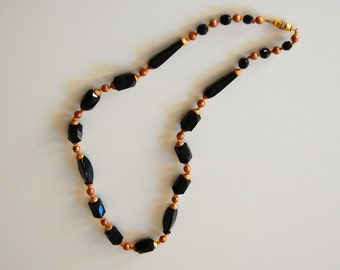 Swarovski and faux pearl beads necklace