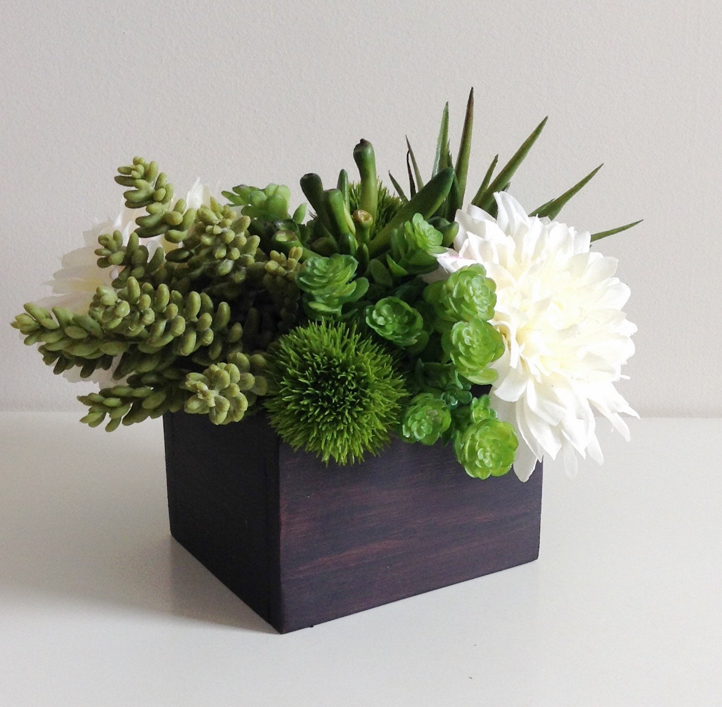 Artificial succulent planter floral arrangement
