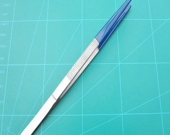 Tweezers 200mm Polished Steel with 75mm Rubber Coated Tip Protection