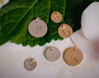 Different Size Extra Initial Pendants - Small, Medium or Large, Gold or Silver Initial Charm