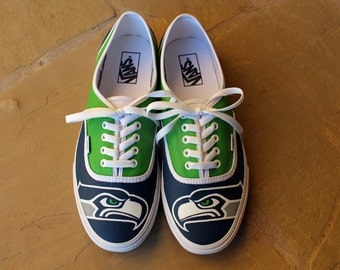 Hand Painted Shoes - Seattle Seahawks