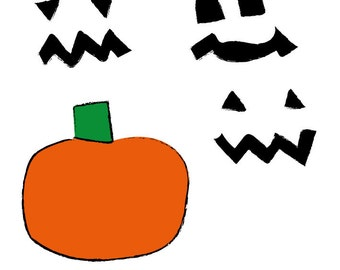 Do it yourself Jack o'Lantern. Vectors (.ai).