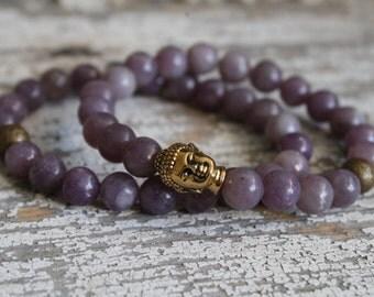 Buddha bracelet/ buddha jewelry/ beaded bracelet/ gold jewelry/ gold bracelet