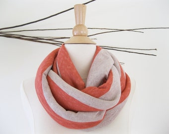 Stripe Sweater Scarf | Infinity Scarf Summer | Chunky Scarf Infinity | Tube Scarf | Sweater Knit | Trending Now
