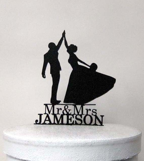 wedding cake toppers high five personalized wedding cake topper high five with mr amp mrs 26493