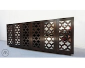 BUILT2ORDER // Quatrefoil Lattice Designed Media Cabinet or Credenza