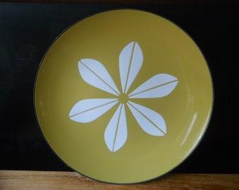Vintage Mustard/Green CathrineHolm Lotus Enamel Plate