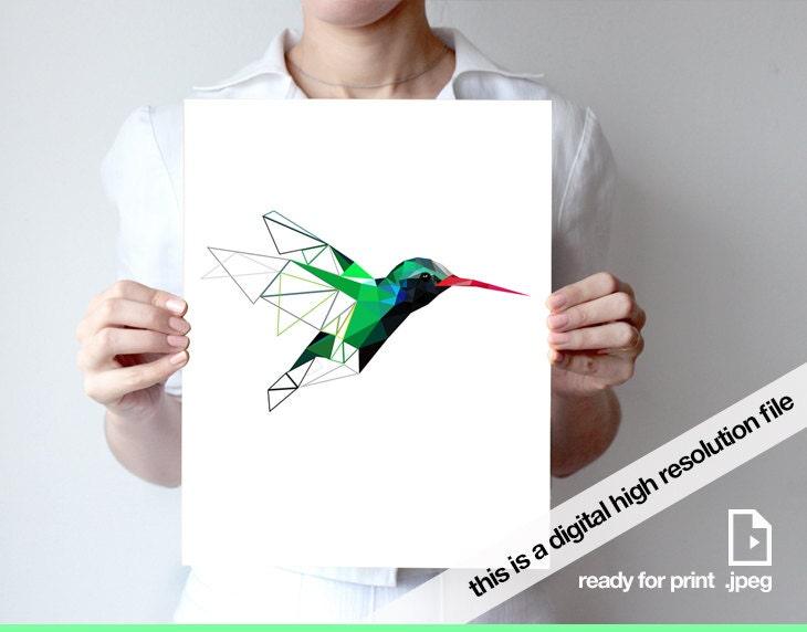 druckbare kunst abstrakte vogel druck vogel kolibri kunst. Black Bedroom Furniture Sets. Home Design Ideas