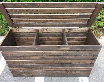 Laundry Basket, FREE SHIPPING, Rustic, Crate, Three Compartments, Finished or Unfinished