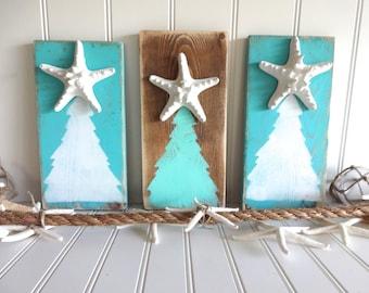 Meet Me Bye The Sea Nautical  Starfish Christmas Tree Set