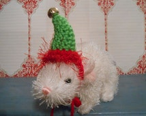 Tiny Pet Elf Hat for Bearded Dragons, Frogs, Toads, Guinea ...