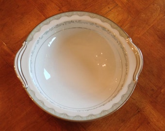 "Noritake ""Margaret"" Round Handled Serving Bowl"