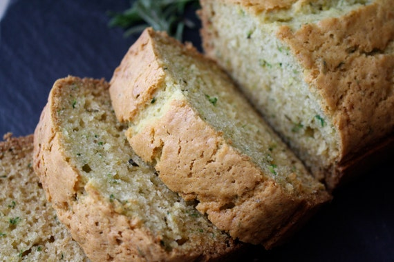 Lemon Rosemary Zucchini Bread homemade baked von SweetRoseBakery