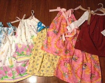 Pillowcase Dress Lot of 7, Size 18 months - 3T