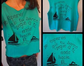 Camisetas pintadas a mano automotivacion mensajes positivos frases