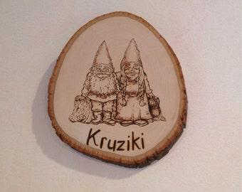 Custom Plaque, Gnomes or Fairies
