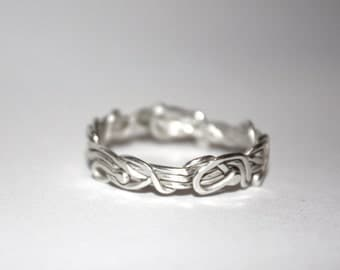 Nature's Freeform Ring in Silver