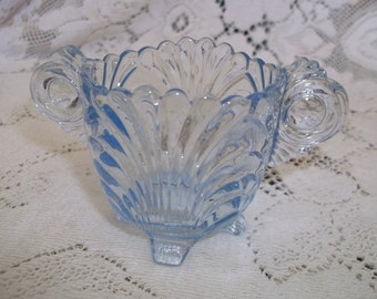 Cambridge Glass Blue Caprice Sugar Only Individual Size