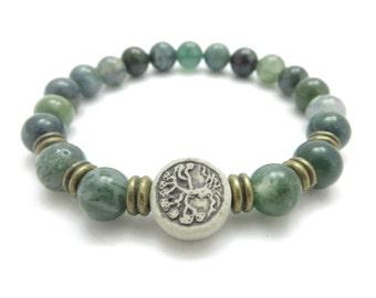 Tree of life Yoga Bracelet Mala bracelet Women's bracelet Bohemian jewelry Elastic Beaded bracelet Reiki Healing jewelry Mother's Day gift