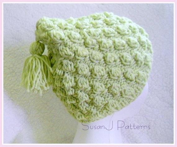 Bobble Stitch Knit Hat Pattern : Bobble Stitch Hat - knitting pattern - instant download from SusanJPatterns o...