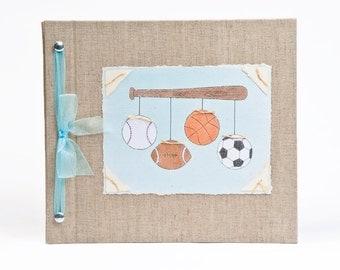 Baby Book - Baby Memory Book - Boy, Sports, Baby Album - Sports Baby Memory Book - Hugs and Kisses XO Baby Memory Book
