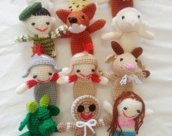Crochet finger puppets for kids