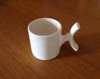 Handmade porcelain espresso cup